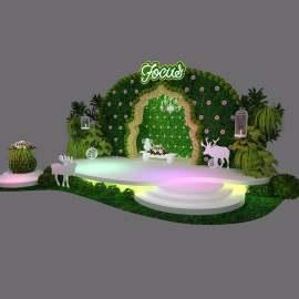 春意清新绿植婚礼舞台美陈设计
